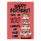 Happy Birthday - 100 Years Old Card