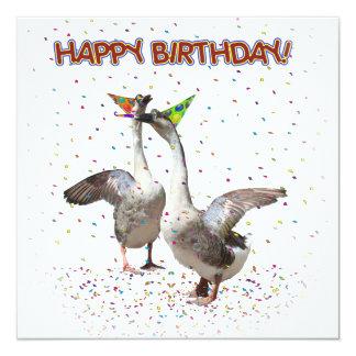 Happy Birthday! 13 Cm X 13 Cm Square Invitation Card
