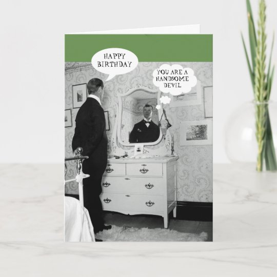 Happy Birthday 1890 Man Talking To Himself Vintage Card Zazzle Co Uk