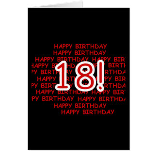 Happy Birthday 18  Card