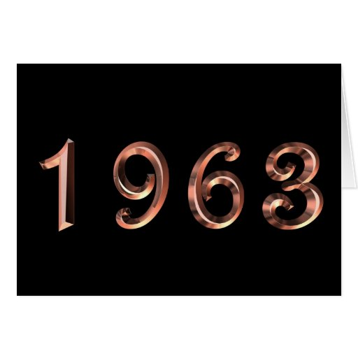 Happy Birthday 1963 Year of Birth 60's 60s sixties Greeting Cards