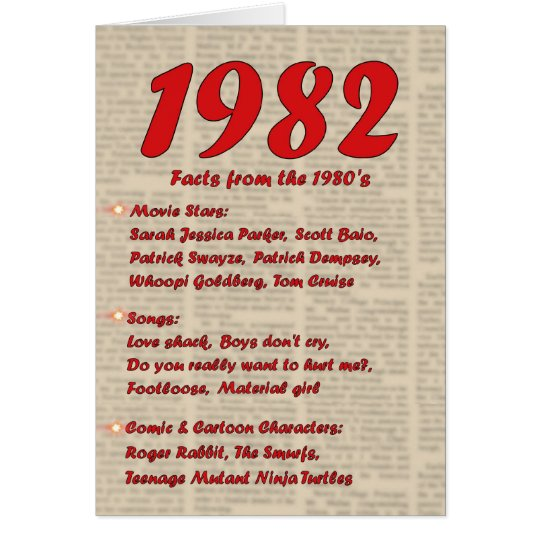 Happy Birthday 1982 Year of birth news 80's