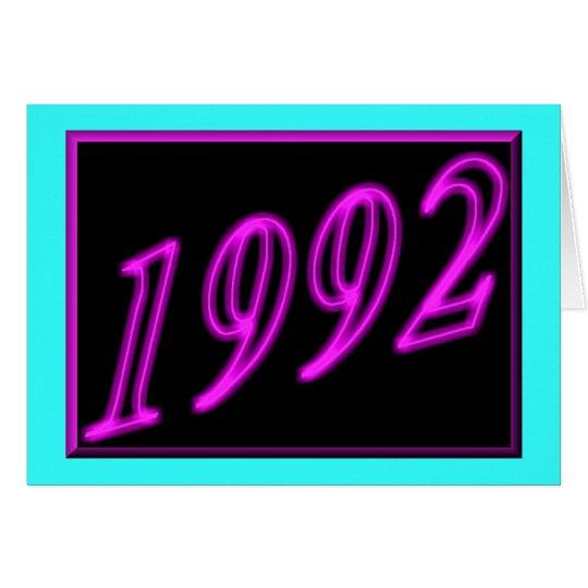 Happy Birthday 1992 Year of birth Neon 90's