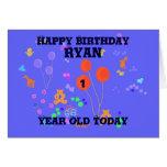 Happy Birthday 1 year old Boy Greeting Card