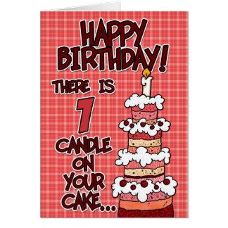 Happy Birthday - 1 Year Old Greeting Card