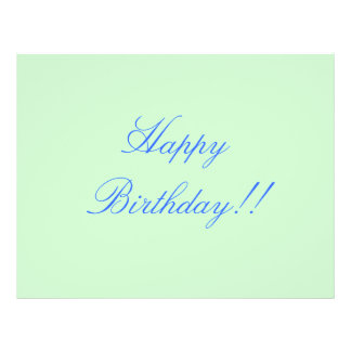 Happy Birthday!! 21.5 Cm X 28 Cm Flyer