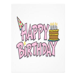 Happy Birthday 21.5 Cm X 28 Cm Flyer