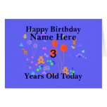 Happy Birthday 3 year old Add name