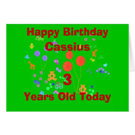 Happy Birthday 3 Year Old Add Name/change Age Greeting