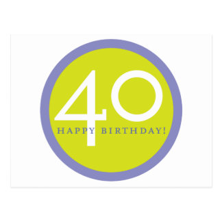 Happy Birthday, 40! Postcard