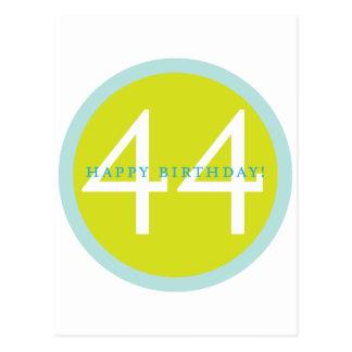 Happy Birthday, 44! Postcard