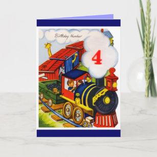 4 Years Old Boy Birthday Invitations Stationery