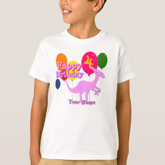 Happy Birthday 4 Years Balloon Dinosaur T-Shirt