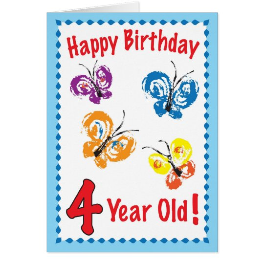 Happy Birthday 4 yr. old Card