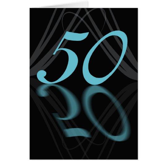 Happy Birthday 50 stylish, mirror 50, 50th birthda Card