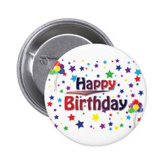 Happy Birthday 6 Cm Round Badge