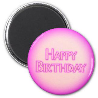 Happy Birthday 6 Cm Round Magnet