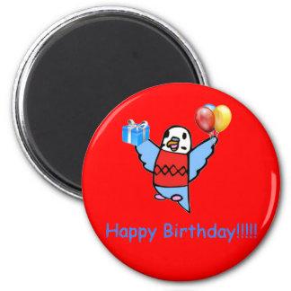 Happy Birthday! 6 Cm Round Magnet