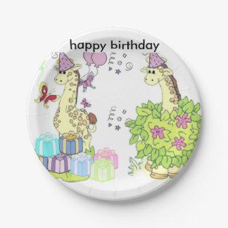 happy birthday 7 inch paper plate