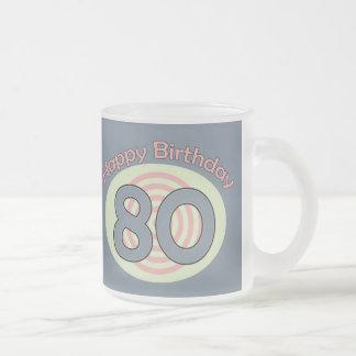 Happy Birthday 80 Frosted Glass Mug