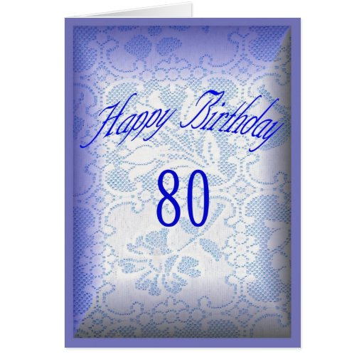 Happy Birthday 80 years old Greeting Card