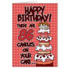 Happy Birthday - 86 Years Old Card