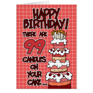 Happy Birthday - 99 Years Old Greeting Card