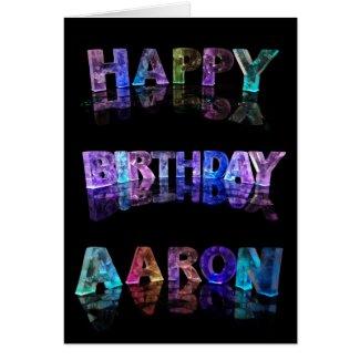 Happy Birthday Aaron Card