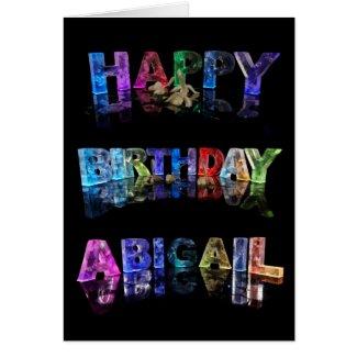 Happy Birthday Abigail Card