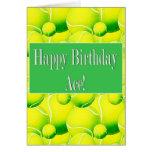 Happy Birthday Ace, Tennis Ball Card