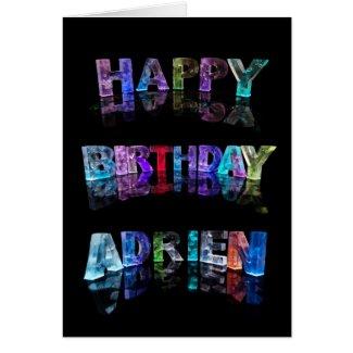 Happy Birthday Adrien Card
