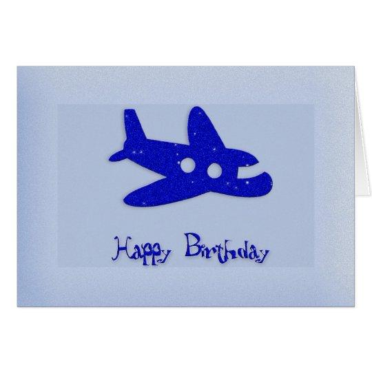 Happy Birthday Aeroplane Card