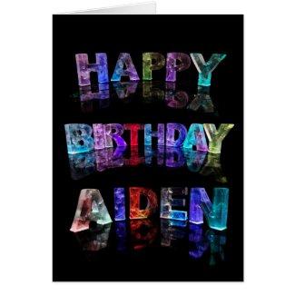 Happy Birthday Aiden Card