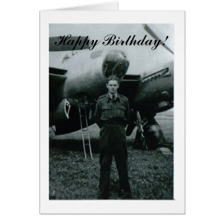 Happy Birthday airforce Note Card