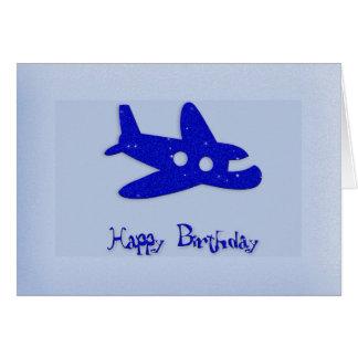 Happy Birthday Airplane Card