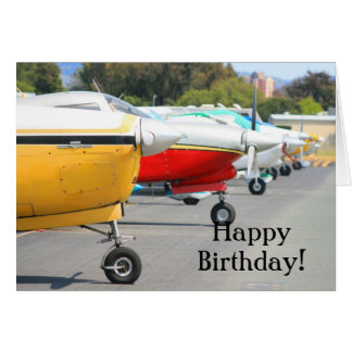 Happy Birthday Airplanes greeting card