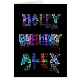 Happy Birthday Alex Card