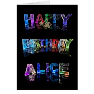 Happy Birthday Alice Card