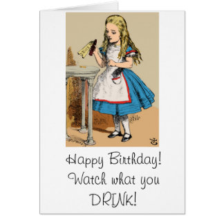 Happy Birthday Alice in Wonderland Card