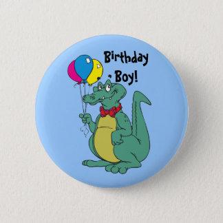 Happy Birthday Alligator Balloon Button