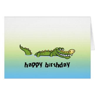 Happy Birthday Alligator Card