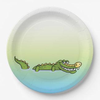 Happy Birthday Alligator Paper Plate