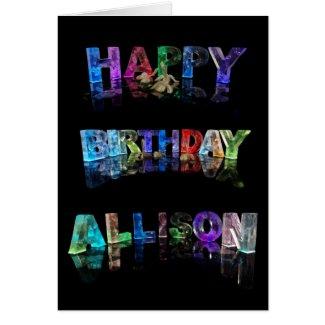 Happy Birthday Allison Card
