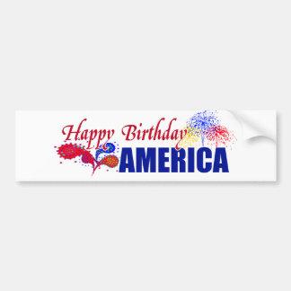 Happy Birthday America Bumper Sticker