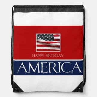 Happy Birthday America! Drawstring Bag