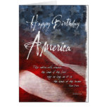 Happy Birthday America, fourth of July Card Cards