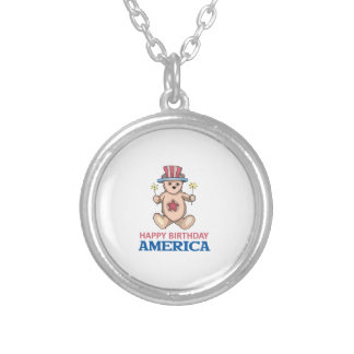 Happy Birthday America Personalized Necklace