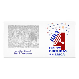 Happy Birthday America Photo Cards
