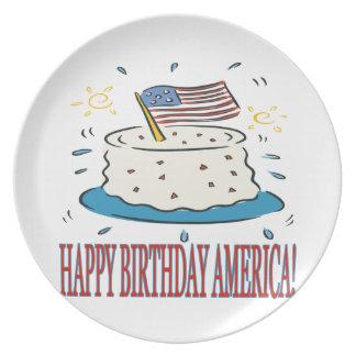 Happy Birthday America Plate