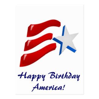 Happy Birthday America! Postcard
